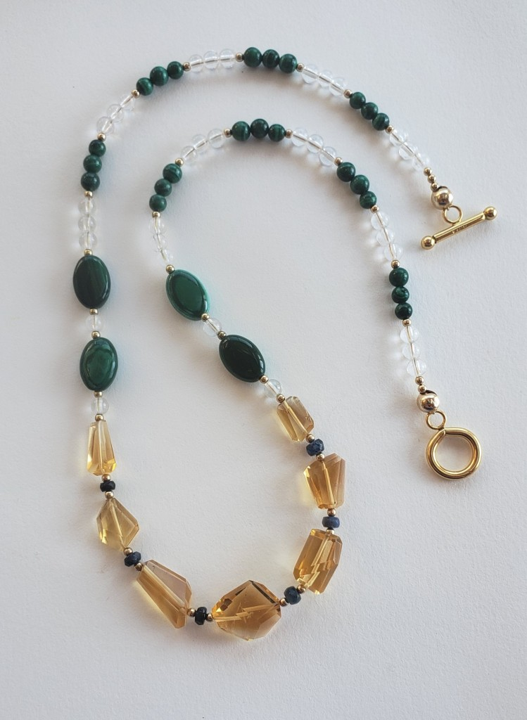 Citrine and malachite